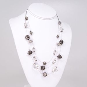 CHICO's 3-Strand Bali Style Floating Necklace